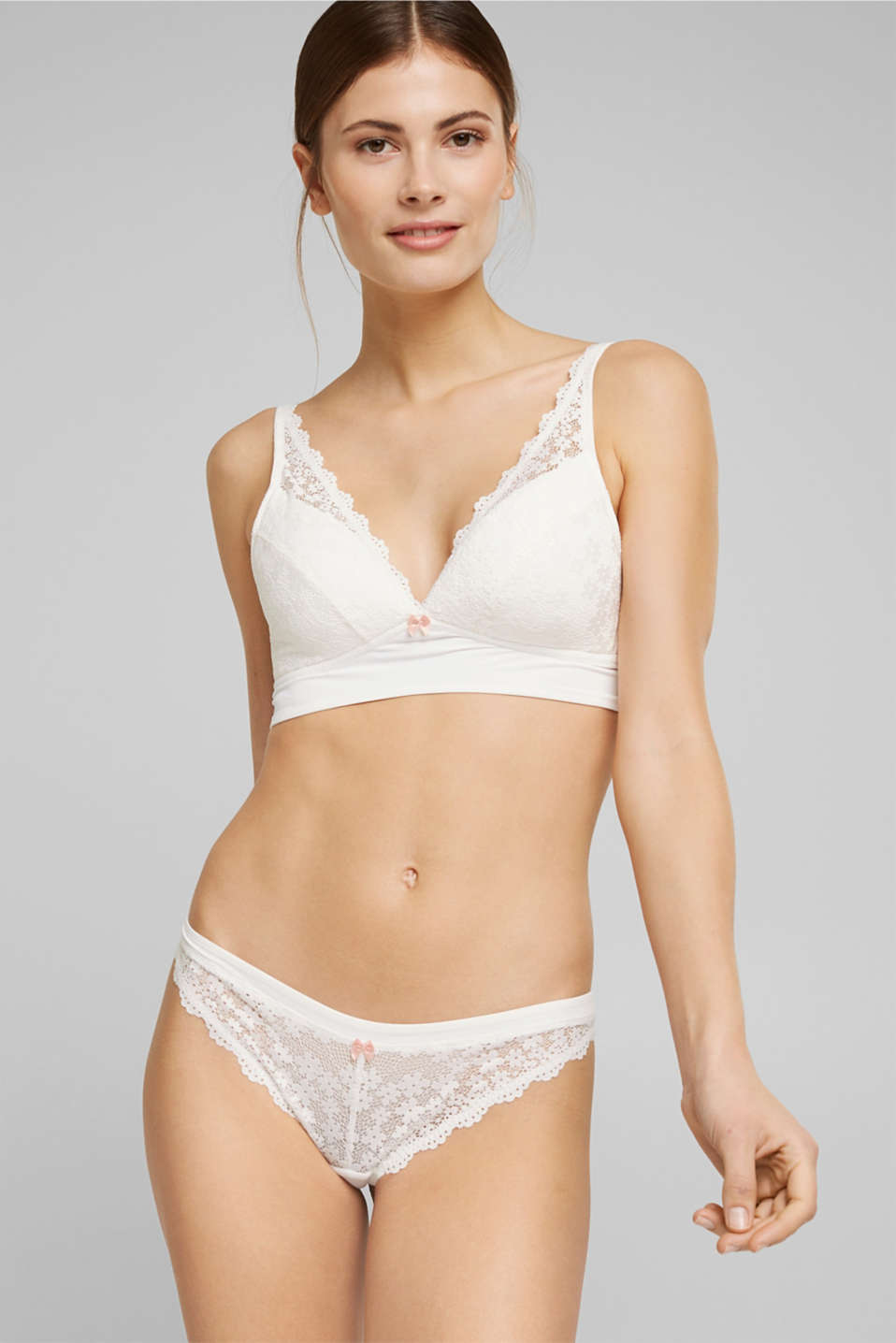 Esprit - Recycled: Padded bra with lace
