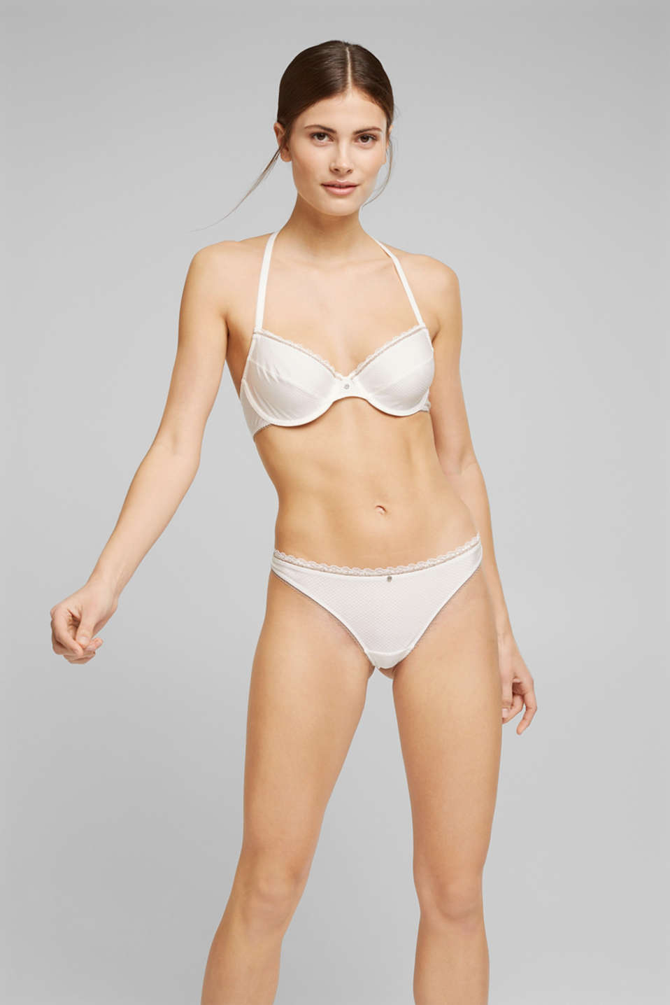 Esprit - Unpadded underwire bra with lace