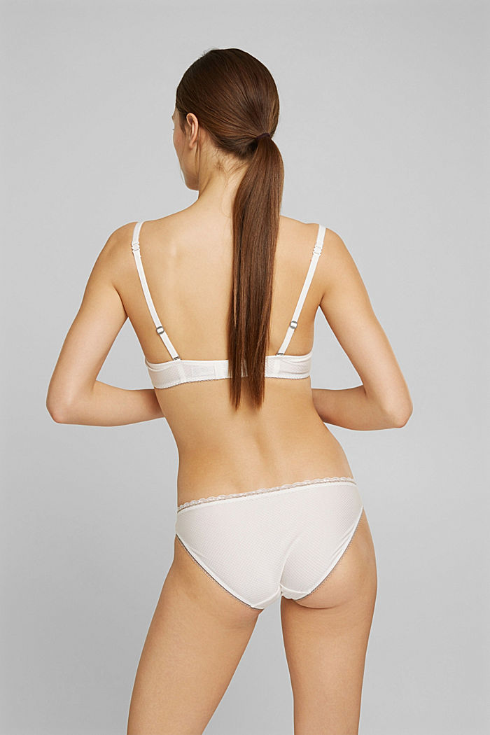 Hipster briefs with lace, OFF WHITE, detail image number 2