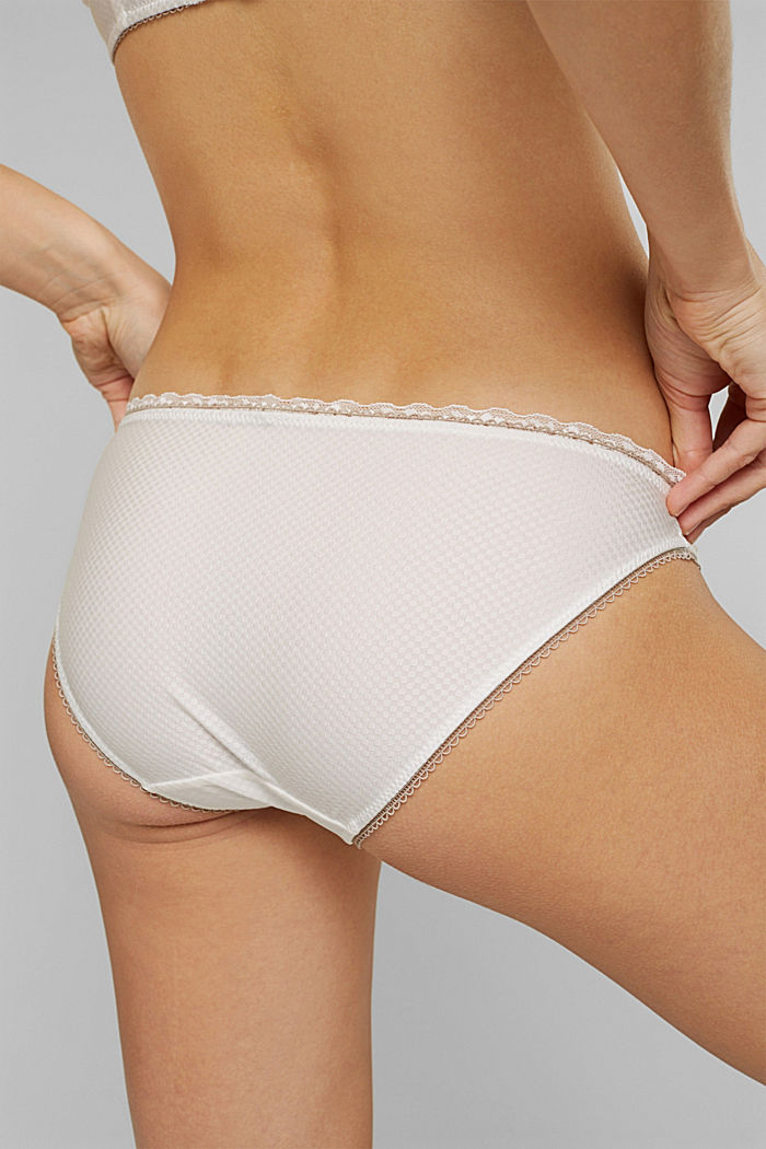 Hipster briefs with lace, OFF WHITE, detail image number 3