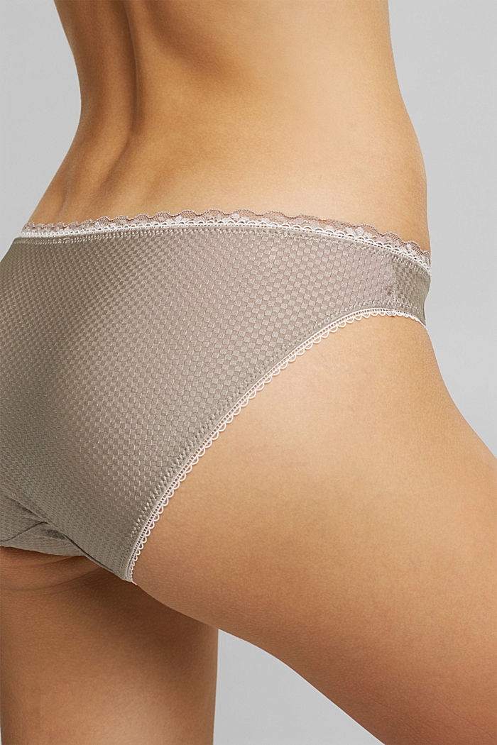 Hipster briefs with lace, LIGHT TAUPE, detail image number 3