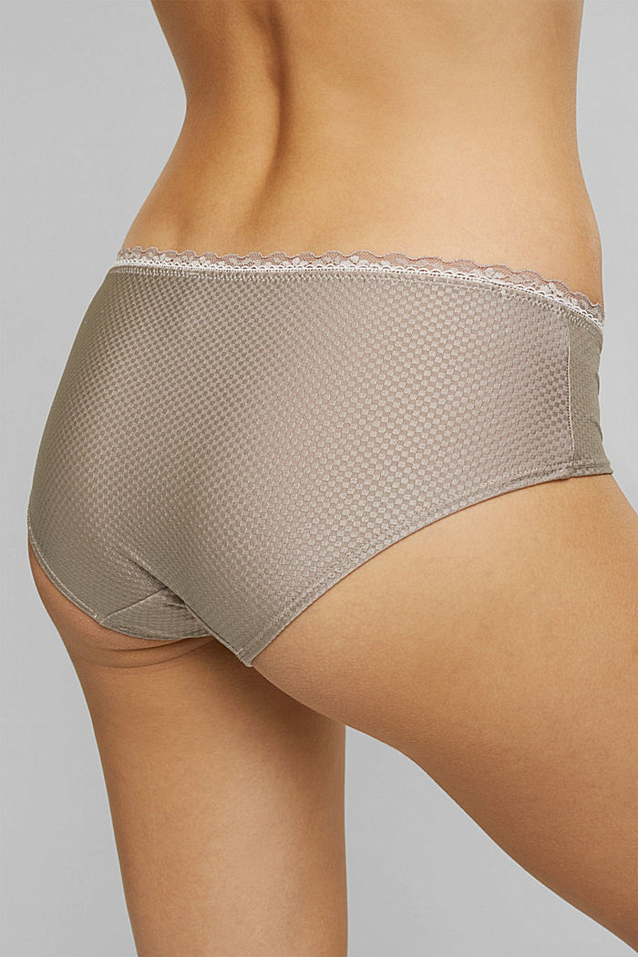 Hipster shorts with lace, LIGHT TAUPE, detail image number 3