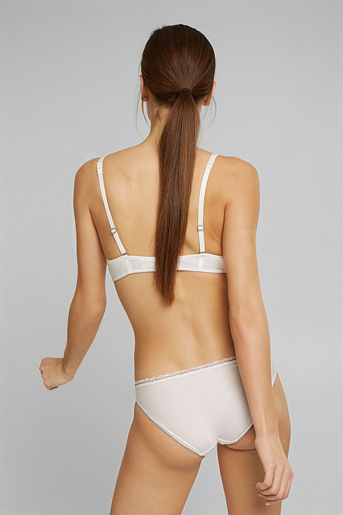 Padded underwire bra with a lace trim, OFF WHITE, detail image number 1