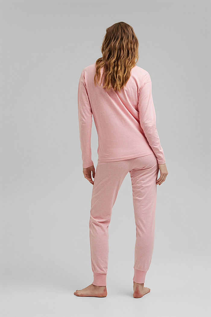 Jersey pyjamas with organic cotton, CORAL, detail image number 1
