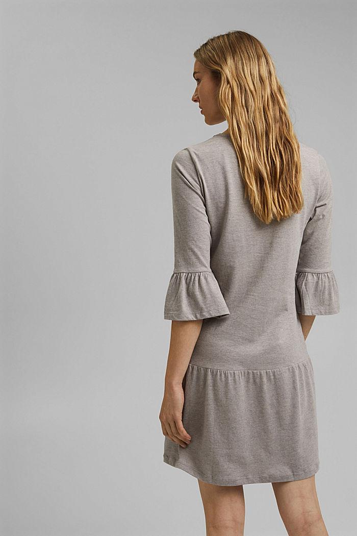 Koszula nocna z jerseyu z bawełną ekologiczną, LIGHT TAUPE, detail image number 2