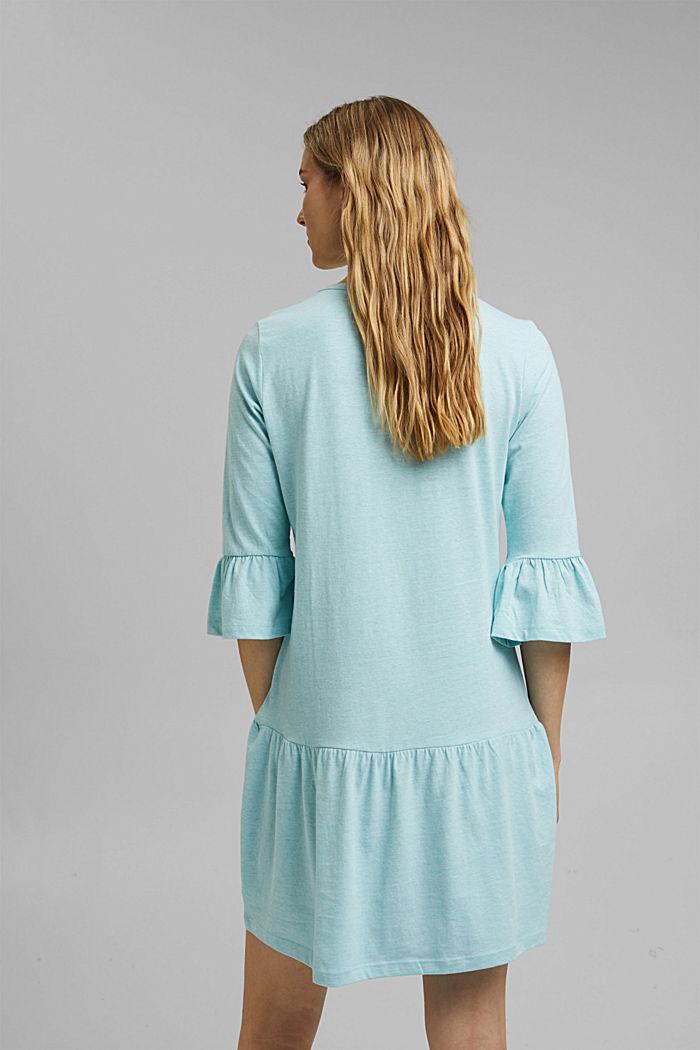 Koszula nocna z jerseyu z bawełną ekologiczną, TEAL BLUE, detail image number 2