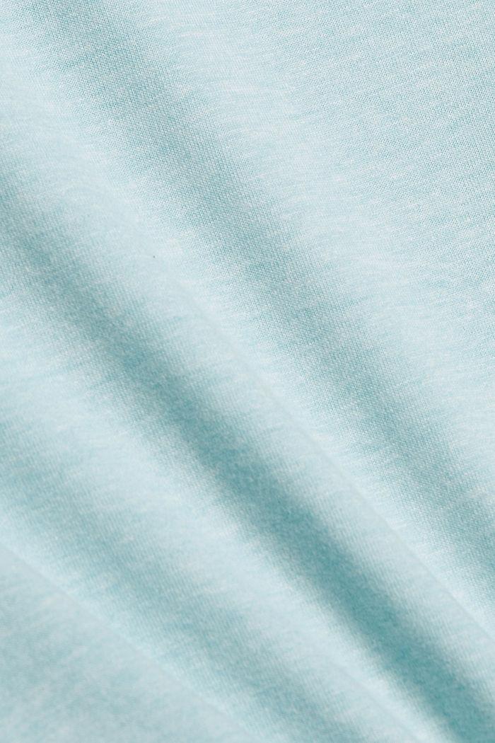Koszula nocna z jerseyu z bawełną ekologiczną, TEAL BLUE, detail image number 4