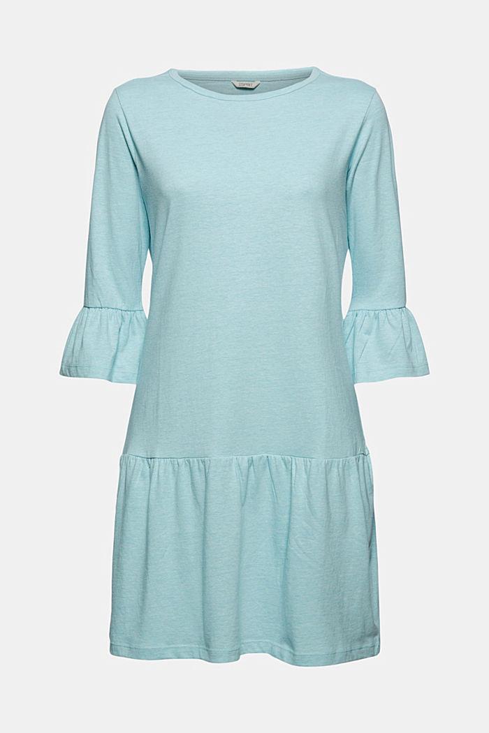 Koszula nocna z jerseyu z bawełną ekologiczną, TEAL BLUE, detail image number 5