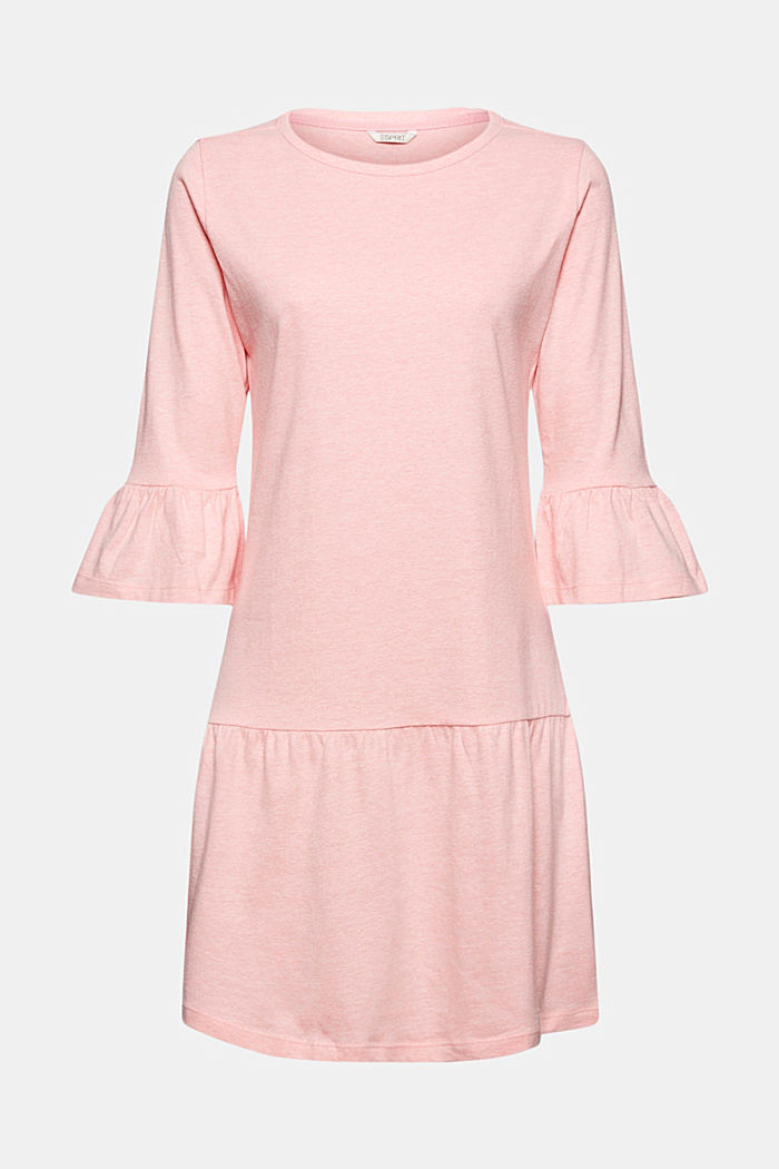 Jersey nightshirt with organic cotton, CORAL, detail image number 5