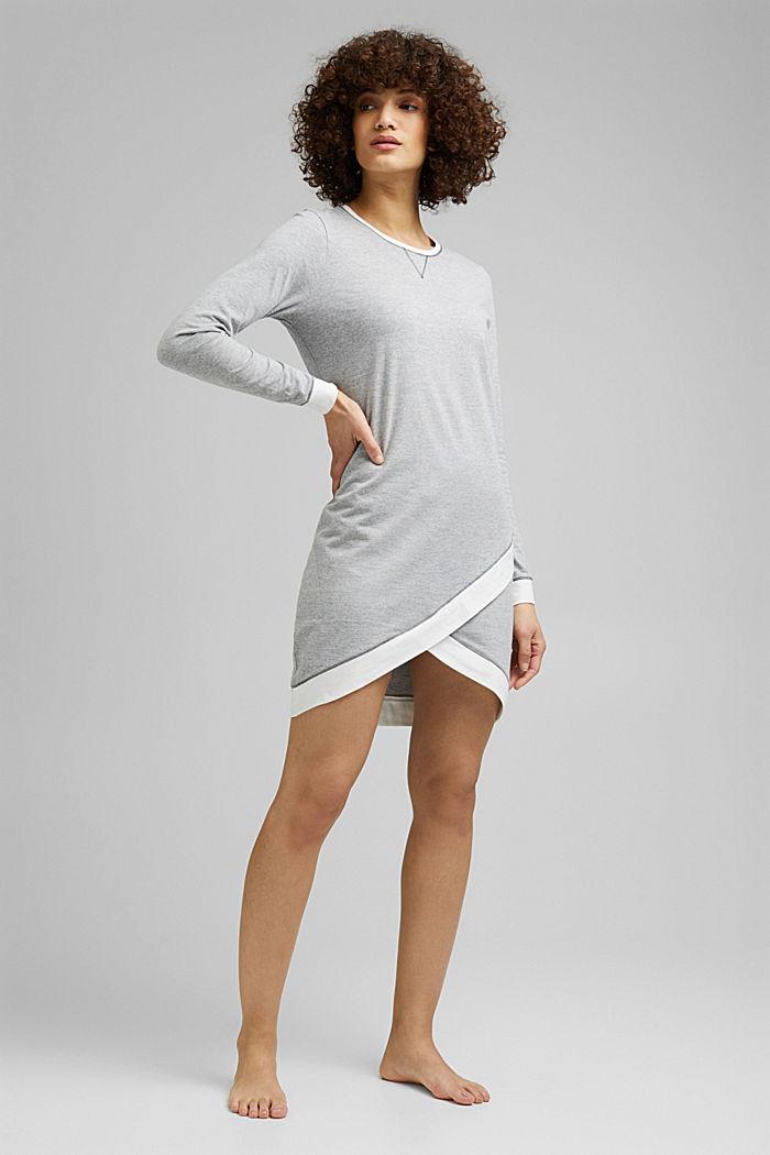 Jersey nightshirt with organic cotton, MEDIUM GREY, detail image number 0