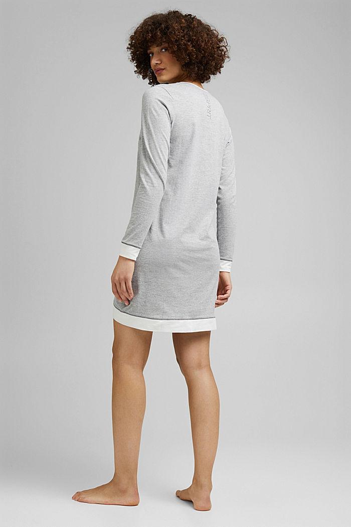 Jersey nightshirt with organic cotton, MEDIUM GREY, detail image number 1
