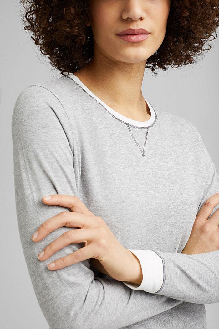 Jersey nightshirt with organic cotton, MEDIUM GREY, detail image number 2