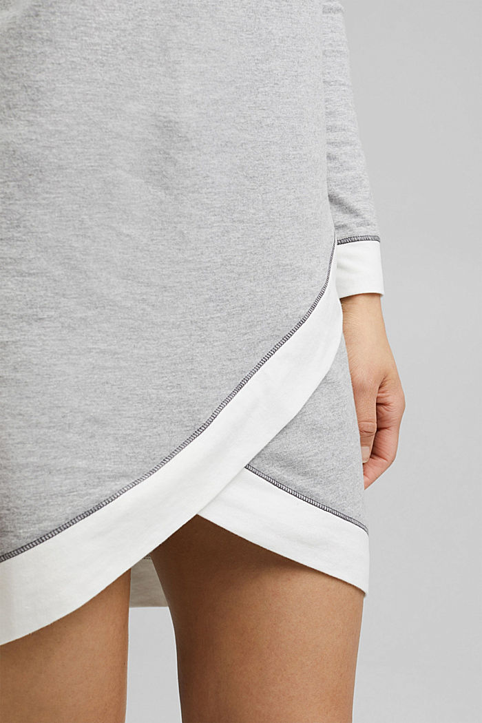 Jersey nightshirt with organic cotton, MEDIUM GREY, detail image number 3