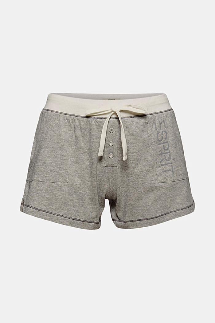 Pyjama shorts containing organic cotton, MEDIUM GREY, detail image number 4