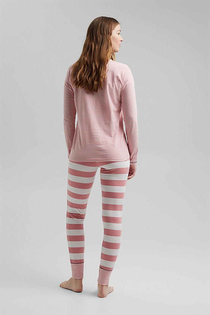 Striped jersey pyjamas, organic cotton, CORAL, detail image number 1