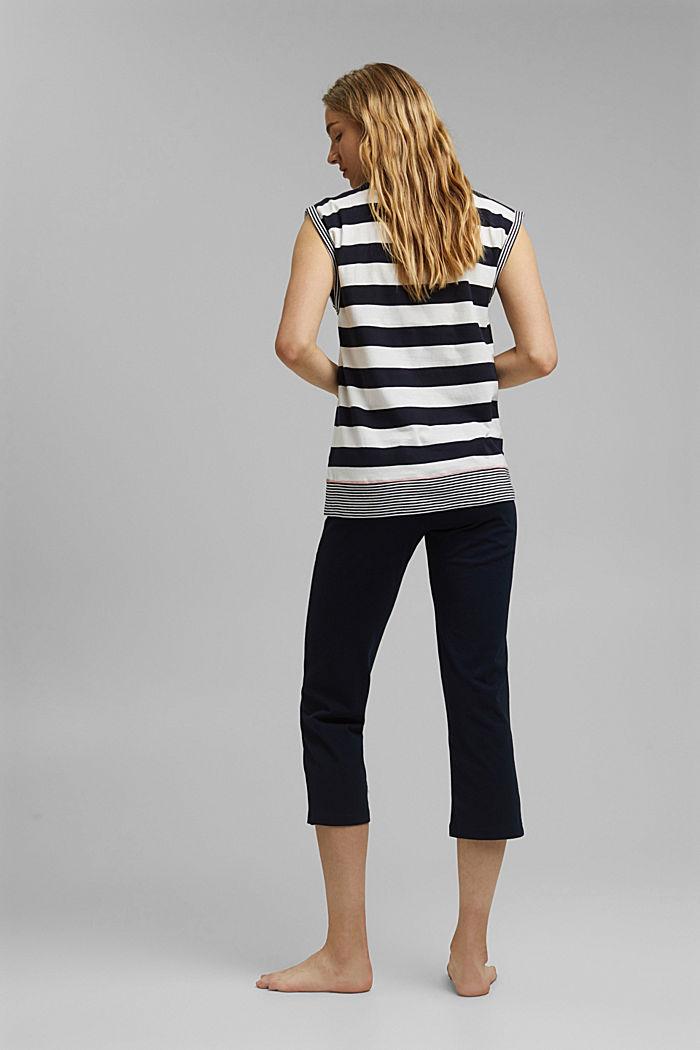 Jersey-Pyjama aus 100% Bio-Baumwolle, NAVY, detail image number 2