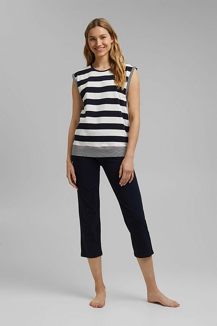Jersey-Pyjama aus 100% Bio-Baumwolle, NAVY, detail image number 0