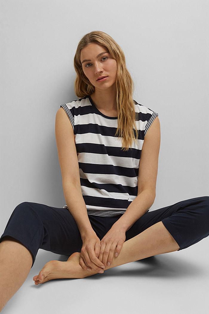 Jersey-Pyjama aus 100% Bio-Baumwolle, NAVY, detail image number 5
