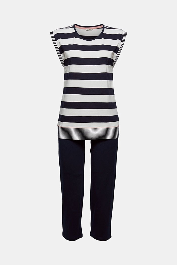 Jersey-Pyjama aus 100% Bio-Baumwolle, NAVY, detail image number 6