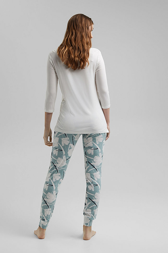 Jersey pyjamas with LENZING™ ECOVERO™, TEAL GREEN, detail image number 1
