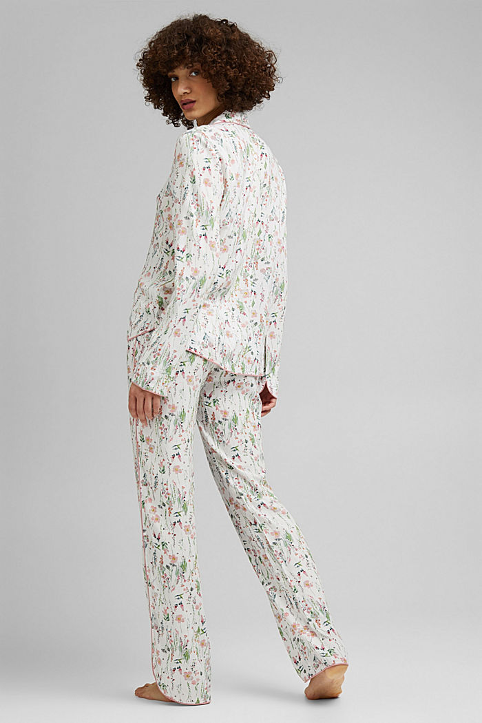 Floral pyjamas made of LENZING™ ECOVERO™, OFF WHITE, detail image number 1