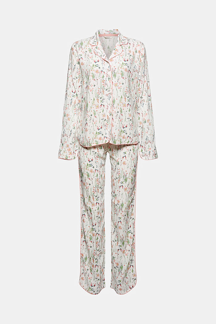 Floral pyjamas made of LENZING™ ECOVERO™, OFF WHITE, detail image number 4