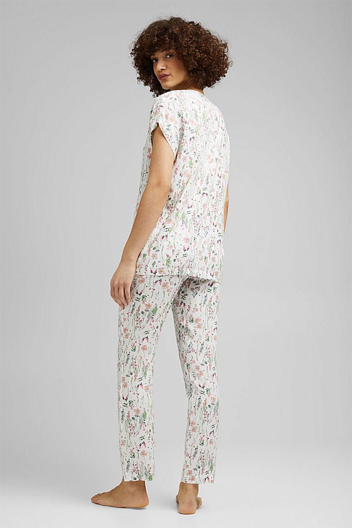Pyjama met bloemenprint, van LENZING™ ECOVERO™, OFF WHITE, detail image number 1