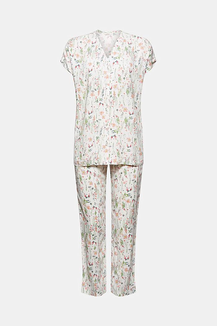 Pyjama met bloemenprint, van LENZING™ ECOVERO™, OFF WHITE, detail image number 3