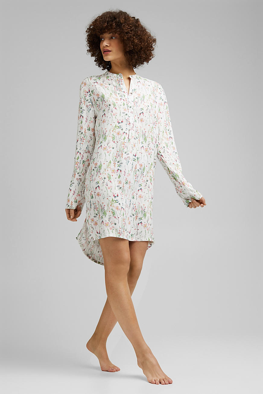 Floral nightshirt made of LENZING™ ECOVERO™