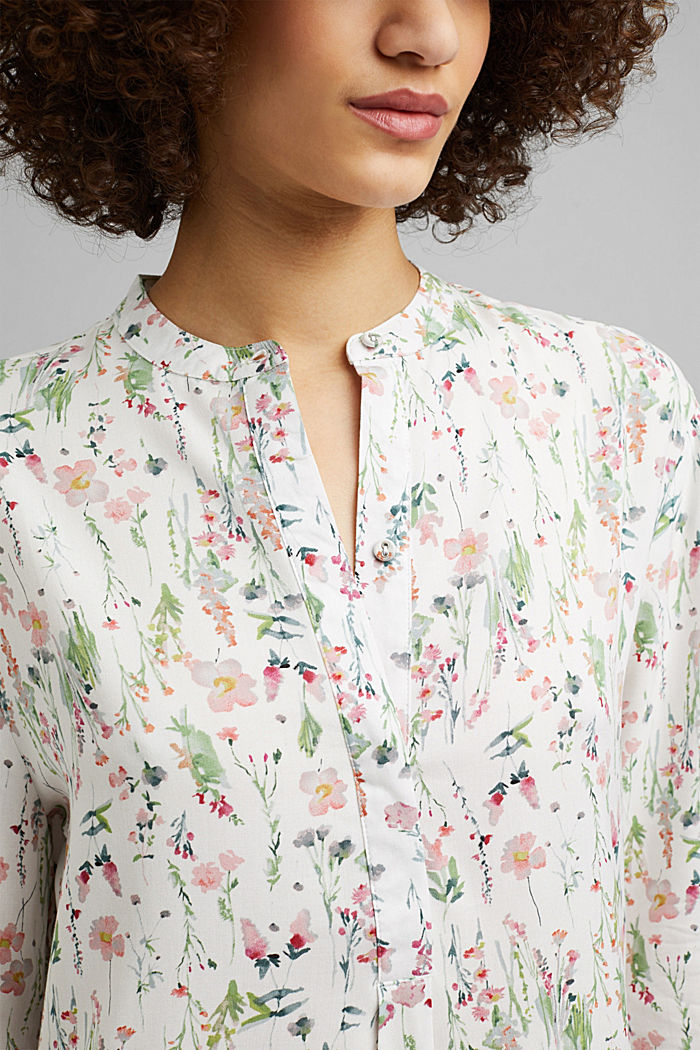 Floral nightshirt made of LENZING™ ECOVERO™, OFF WHITE, detail image number 2