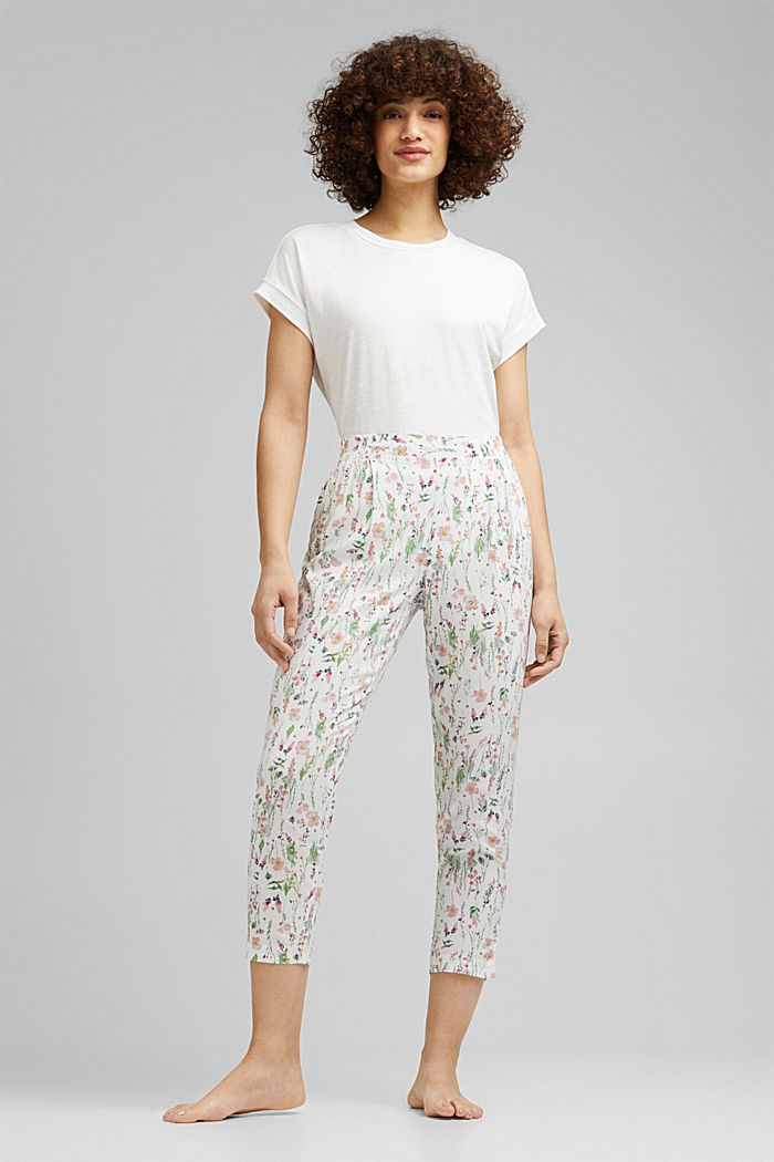 Cropped pyjama bottoms with LENZING™ ECOVERO™, OFF WHITE, detail image number 0