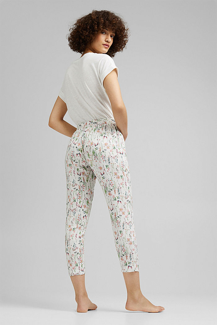 Cropped pyjama bottoms with LENZING™ ECOVERO™, OFF WHITE, detail image number 2