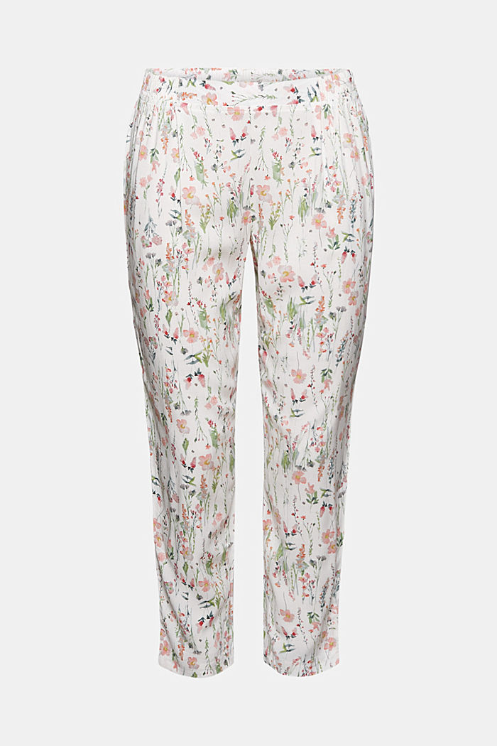 Cropped pyjama bottoms with LENZING™ ECOVERO™, OFF WHITE, detail image number 3