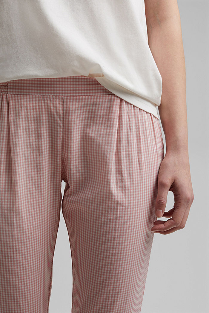 Pyjamas with gingham checks, 100% organic cotton, CORAL, detail image number 2