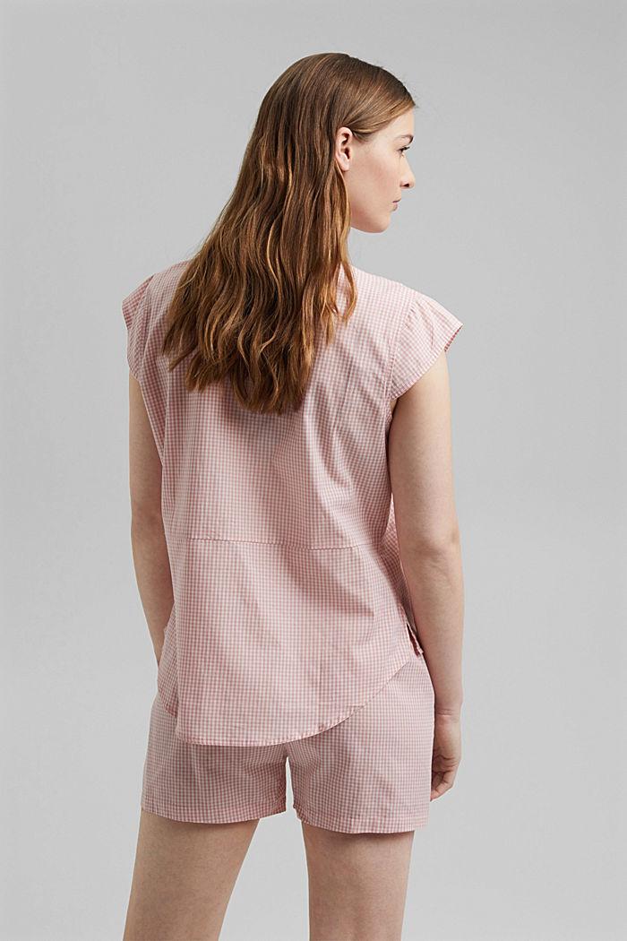 Pyjamas with gingham checks, 100% organic cotton, CORAL, detail image number 2