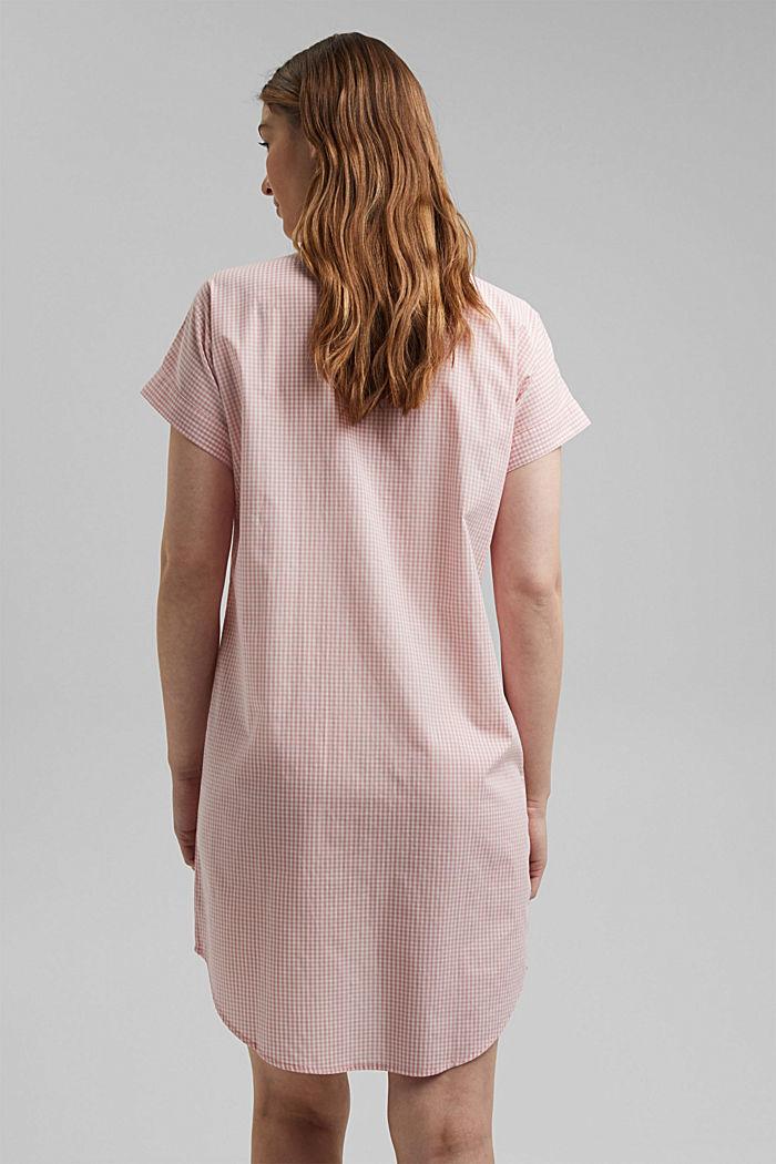 Camicia da notte in 100% cotone biologico, CORAL, detail image number 2