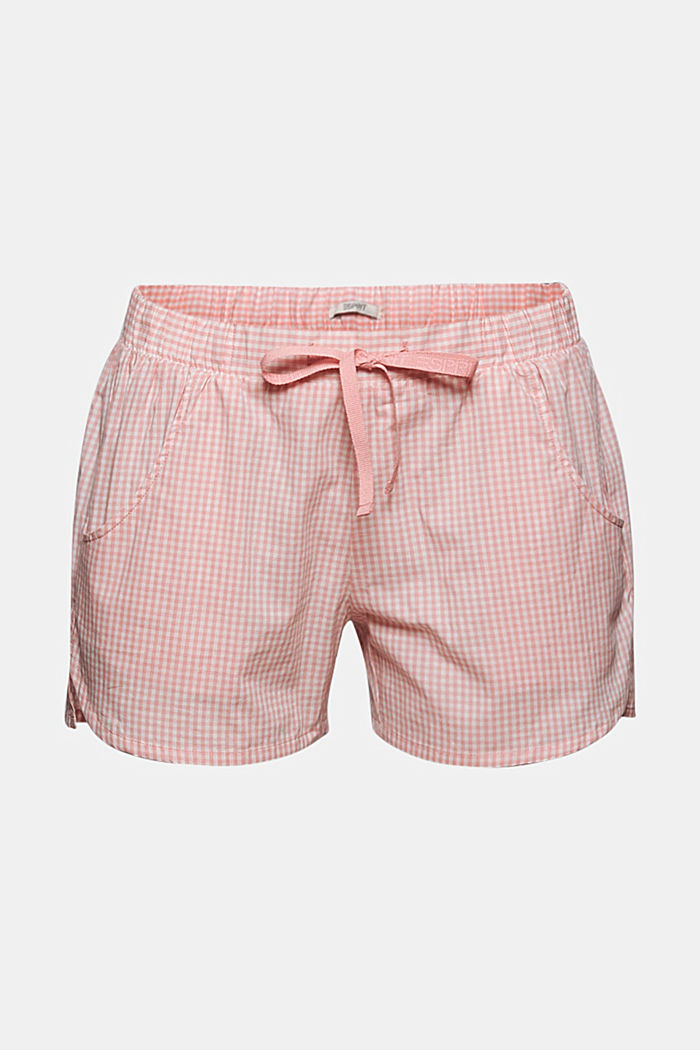 Geweven short van 100% organic cotton, CORAL, overview