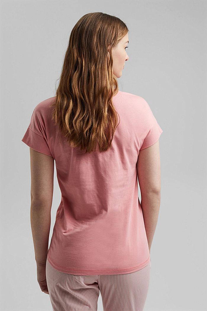 Stretch-Shirt aus 100% Organic Cotton, CORAL, detail image number 2