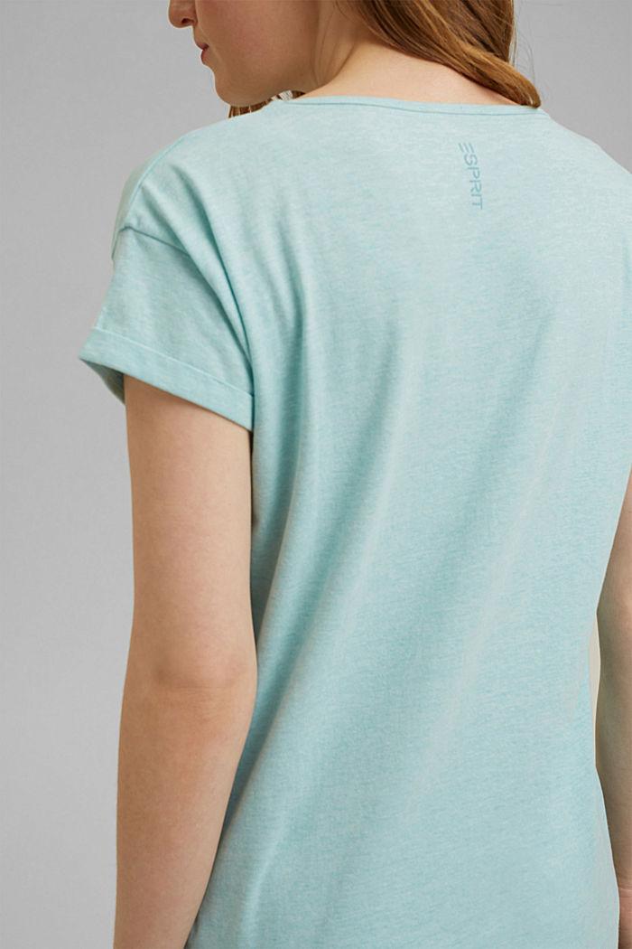 Jersey pyjama met biologisch katoen, TEAL GREEN, detail image number 2