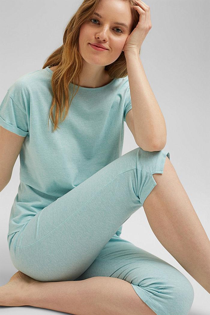 Jersey-Pyjama mit Bio-Baumwolle