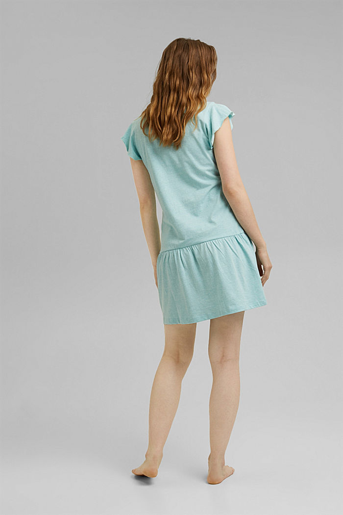 Jersey nightshirt with organic cotton, TEAL GREEN, detail image number 2