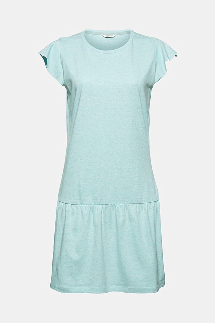 Jersey nightshirt with organic cotton, TEAL GREEN, detail image number 4