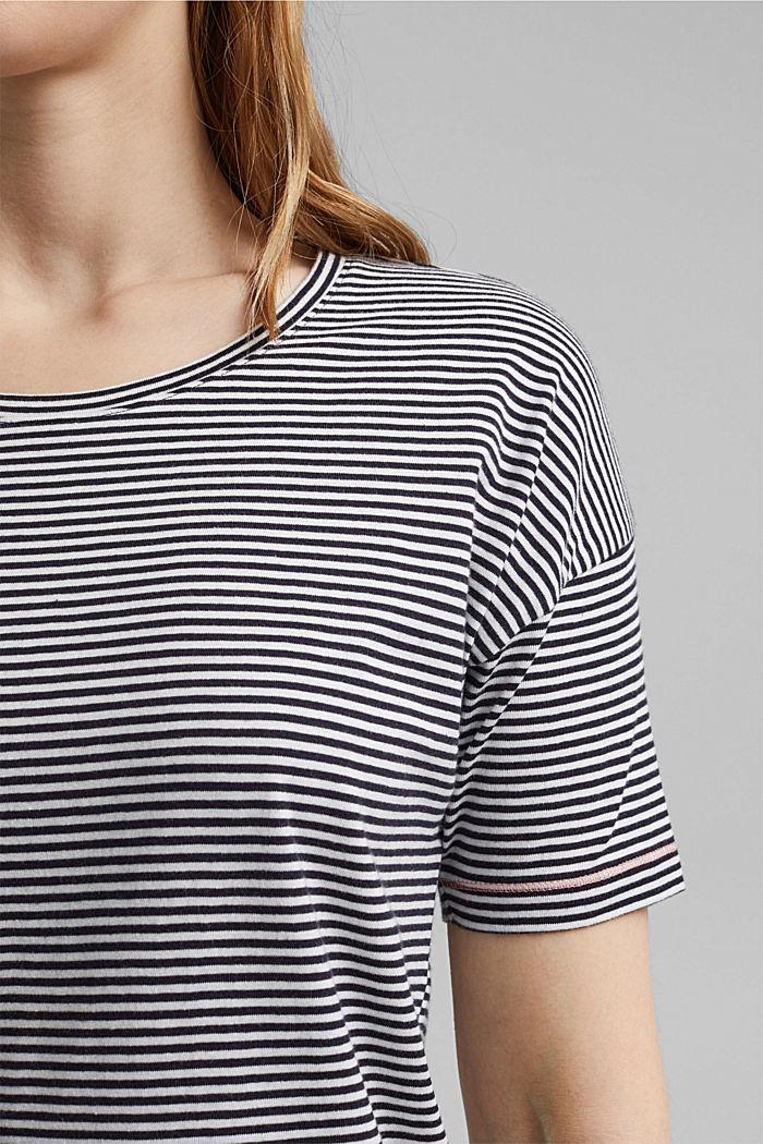 Striped jersey pyjamas, organic cotton, NAVY, detail image number 2