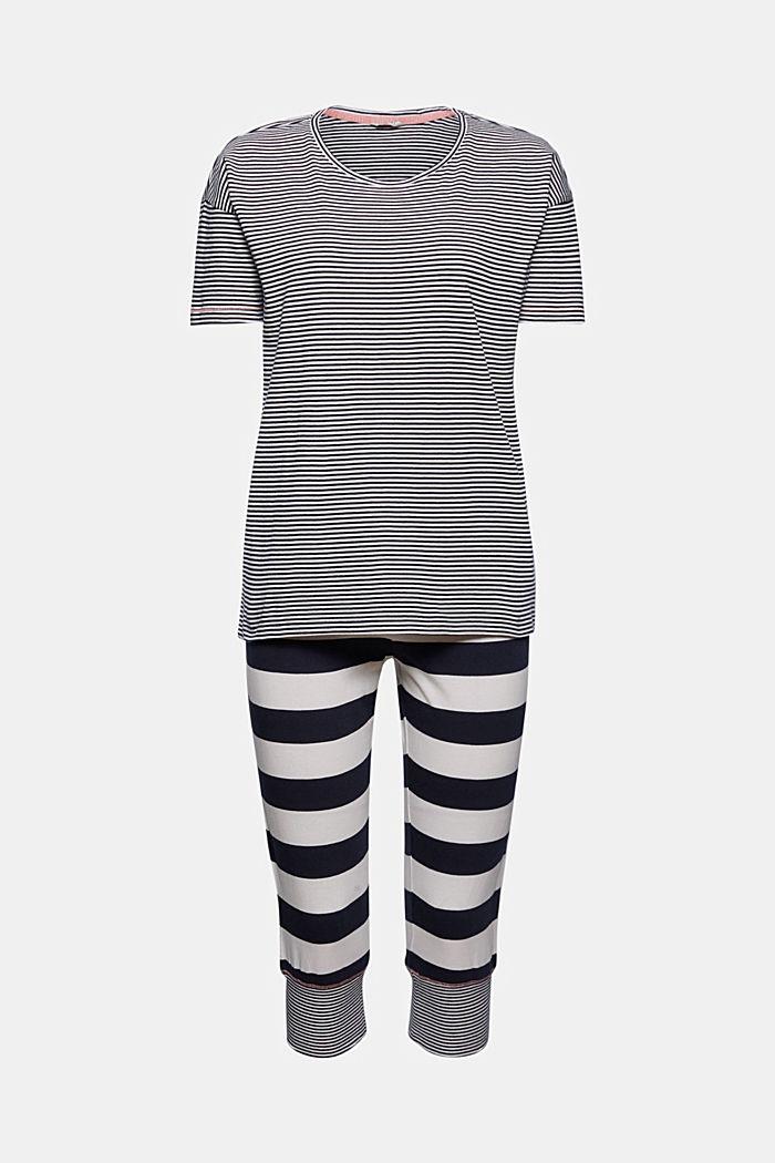 Jersey-Pyjama mit Streifen, Organic Cotton