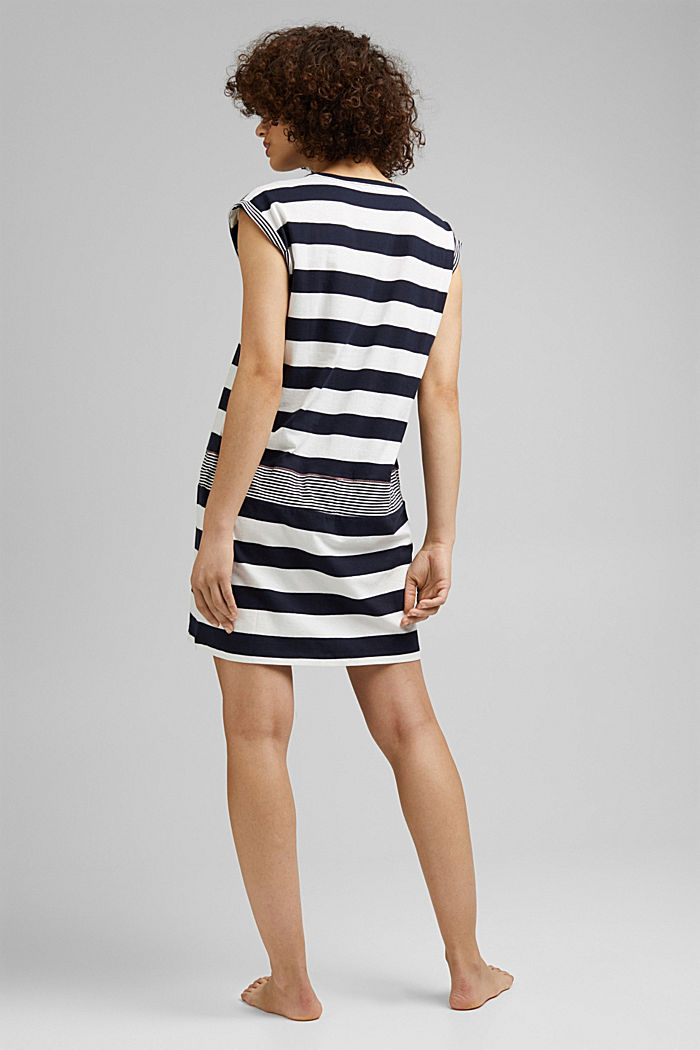 Nightshirt with stripes, 100% organic cotton, NAVY, detail image number 1