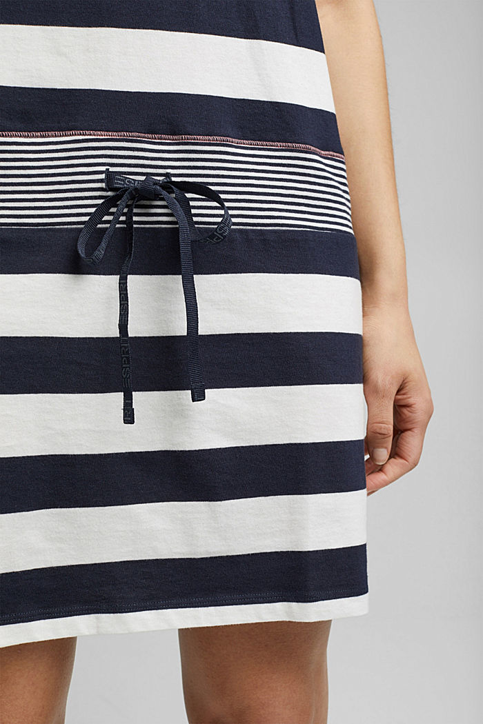 Nightshirt with stripes, 100% organic cotton, NAVY, detail image number 3