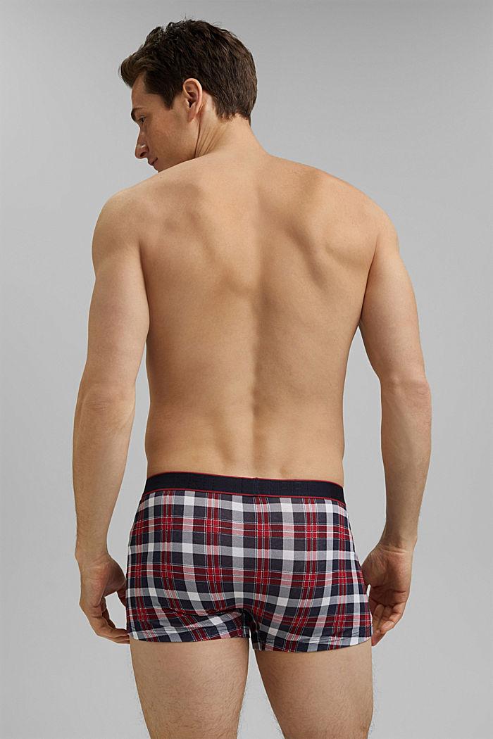 3er-Pack Hipster-Shorts aus Baumwoll-Stretch, NAVY, detail image number 1
