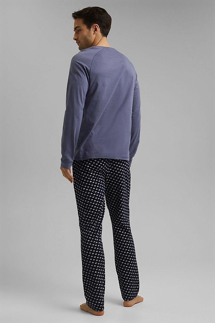 Pyjama van 100% biologisch katoen, NAVY, detail image number 2