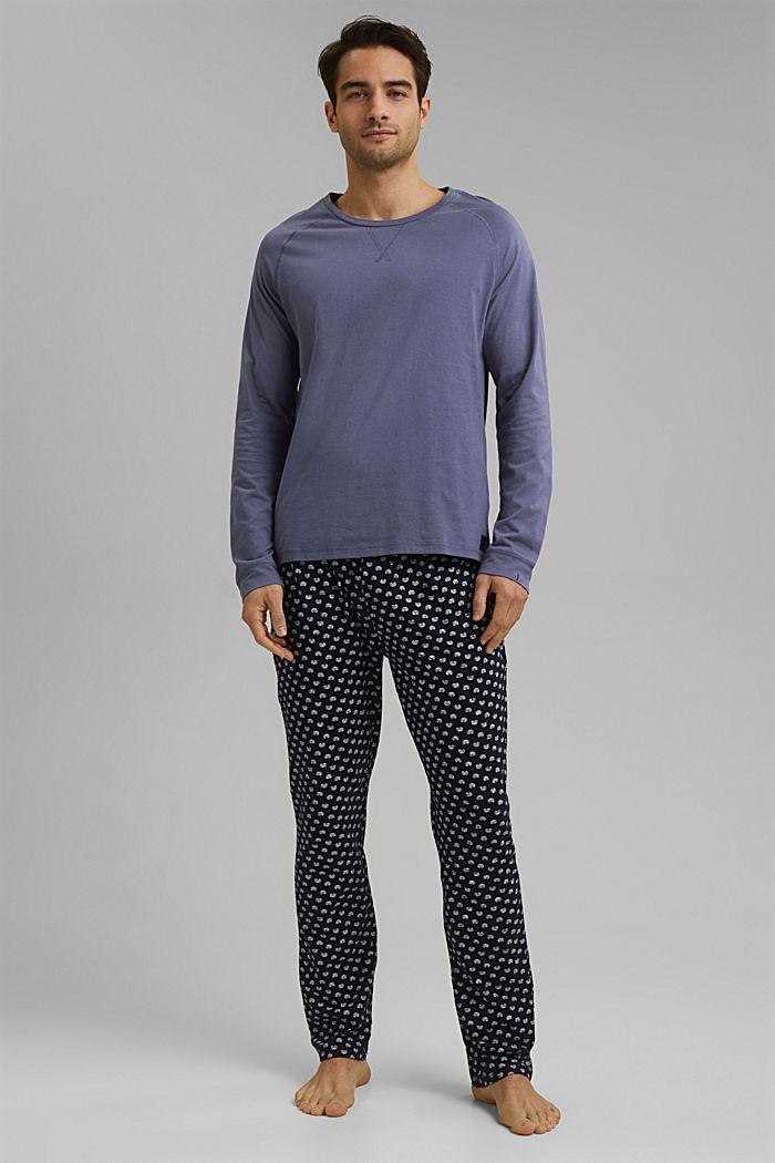 Pyjama van 100% biologisch katoen, NAVY, detail image number 1