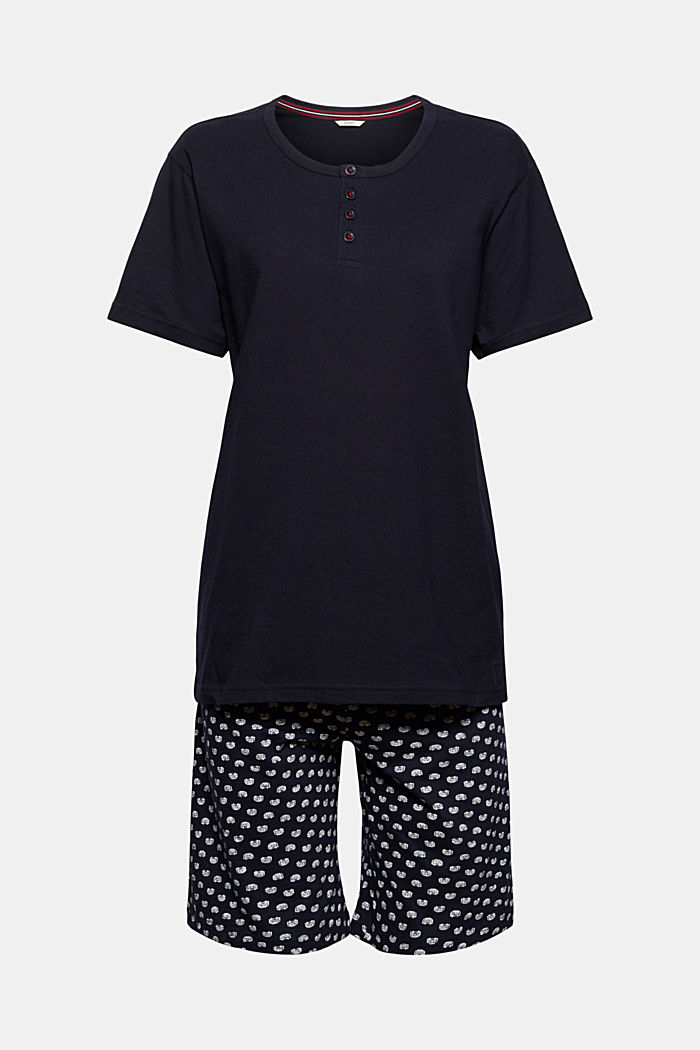 Pyjamas made of 100% organic cotton, NAVY, overview